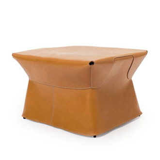 Palomba serafini cuir pouf - Pouf rectangulaire cuir ...