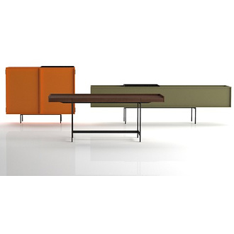 Piero Lissoni Lochness Cupboard, Table and Desk