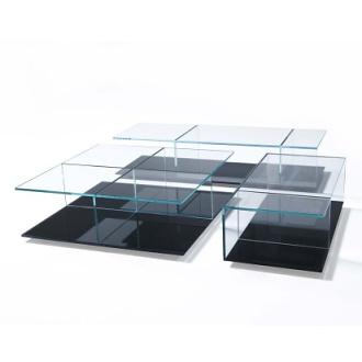 Piero lissoni mex 269 coffee table for Mirror 72x36