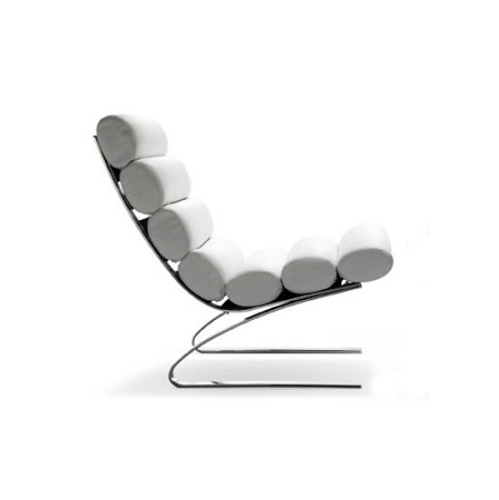 Reinhold Adolf and Hans-Jürgen Schröpfer Sinus Armchair With Footstool