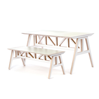 Scott Klinker A-frame Bench and Table