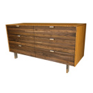 James Sanderson and Michael Iannone Green Mod Wood Stripe Tall Dresser