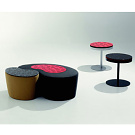 Kaori Shiina Cube Pouf and Navy Table